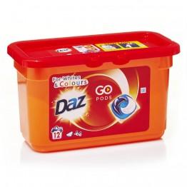 DAZ Go Pods skalbimo kapsulės baltiems ir spalvotiems audiniams, 12vnt