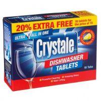 CRYSTALE All In One indaplovių tabletės, 18 vnt