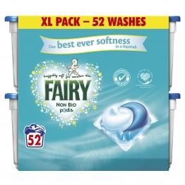 FAIRY Non Bio skalbimo kapsulės jautriai odai, 52 vnt