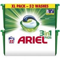 ARIEL 3in1 regular koncentruotos skalbimo kapsulės, 52 vnt