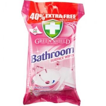 GREEN SHIELD vonios kambario paviršių servetėlės, 70vnt
