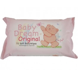 BABY DREAM drėgnos vaikiškos servetėlės, 72vnt