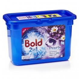 BOLD 2IN1 Pearls levandų ir ramunėlių aromato skalbimo kapsulės, 12vnt