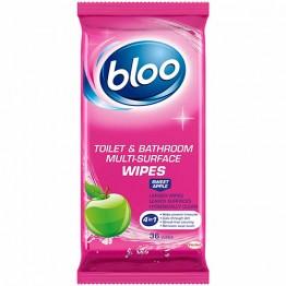 BLOO drėgnos WC ir vonios paviršių servetėlės, 36 vnt