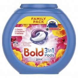 BOLD 3 in 1 Sparkling Bloom skalbimo kapsulės 55 vnt