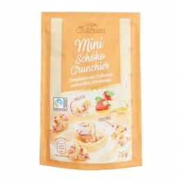 CHATEAU kukurūzų dribsniai su braškėmis ir baltu šokoladu 75 g