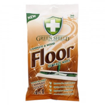 GREEN SHIELD Laminate and Wood drėgnos servėtėlės grindų priežiūrai 24 vnt