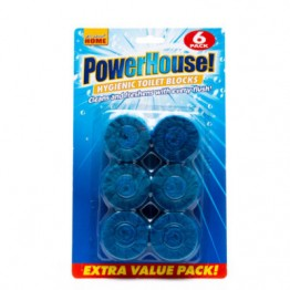 POWERHOUSE wc bakelių tabletės 6 vnt