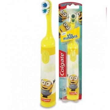 Colgate Minions vaikiškas dantų šepetėlis su baterijomis (Geltonas) 1 vnt.