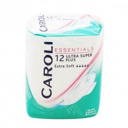 CAROLI higieniniai įklotai ULTRA SUPER Plus 12 vnt