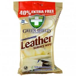 GREEN SHIELD odinių paviršių valymo servetėlės, 70vnt