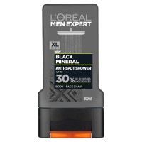 L'Oréal Men Expert Black Mineral dušo želė 300 ml