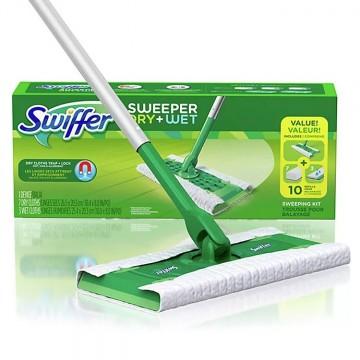 SWIFFER grindų šepetys su pakeičiamomis šluostėmis, 1 + 11 vnt